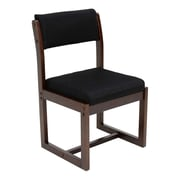 Regency Sled Base Wood & Fabric Chair, Black (B61705MWBK)