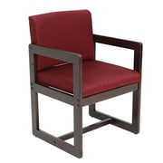 Regency Leg Base Side Wood & Fabric Chair