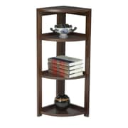 "Regency Flip Flop 34"" High Corner Folding Bookcase, Mocha Walnut (FFC3412MW)"
