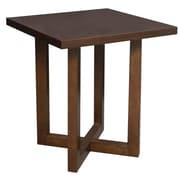 Regency 21-inch Wood Square Veneer End Table, Mocha Walnut