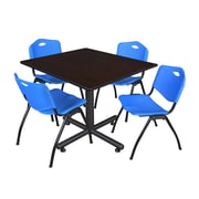 Regency 48-inch Square Laminate Table, Blue