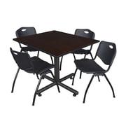 Regency 48-inch Square Laminate Table, Black