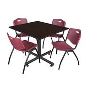 Regency 48-inch Square Laminate Table, Burgundy