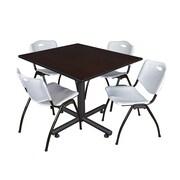 Regency 48-inch Square Laminate Table, Gray