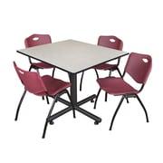 Regency 48-inch Maple Square Table, Burgundy