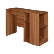 Niche Wood Student Desk with 2-Shelf Bookcase, Warm Cherry