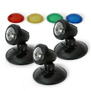 Algreen TripleGlo 3 Piece LED Light Kit with Transformer and Color Lenses