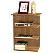 Home Concept Modern 3 Shelf End Table; Walnut