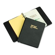 Wilson Jones® Looseleaf Phone/Address Book, 5 1/2 x 8 1/2, Vinyl, Black (W812B)