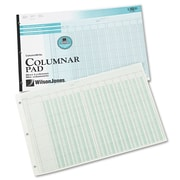 "Wilson Jones® Column Write® Side Bound Columnar Pad, 10.8"" x 16.1"" (WG7213A)"