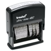 Trodat Economy 12-Message Date Stamp, Black, Each (5003)