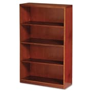"Mayline® Mira Series Bookcase, 4-Shelves, 68"", Standard, Medium Cherry (MBC3668MC)"