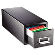 "SteelMaster® Drawer Card Cabinet, 3"" x 5"", 1500-Capacity, Black (263F3516SBLA)"