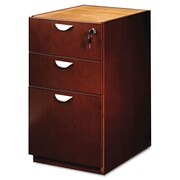 Mayline® Mira Series Credenza/Return Pedestal File, 3 Drawer(s), Medium Cherry, Letter (MPBBF22MC)