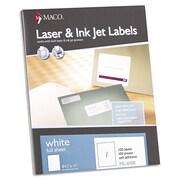 Maco® White Multipurpose Labels, 8 1/2 x 11, 100/Box (ML0100)