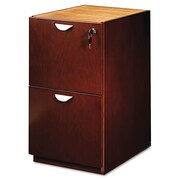 Mayline® Mira Series Credenza/Return Pedestal File, 2 Drawer(s), Medium Cherry, Letter (MPFF22MC)