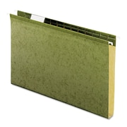 Pendaflex® Extra Capacity Reinforced Hanging File Folders with Box Bottom, Standard Green, Legal, 25/Box (4153X1)