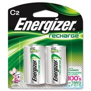 Energizer® NiMH Rechargeable Batteries, C, 2/Pack (NH35BP-2)