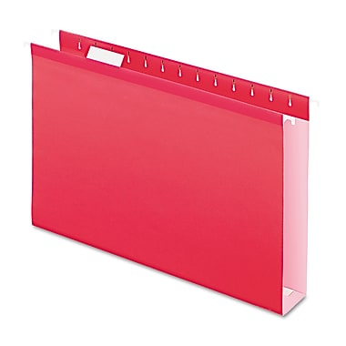 Pendaflex® Extra Capacity Reinforced Hanging File Folders with Box Bottom, Red, Legal, 25/Box (4153X2RED)