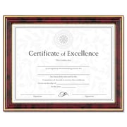 DAX® Gold-Trimmed Document Frame, Plastic, 8 1/2 x 11, Mahogany/Gold, Each (N2709N7T)