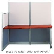 Bush®, Straight Workstation (Box 2 of 2) Office-in-an-Hour, Hansen Cherry, Melamine (WC36492A2-03)
