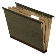 Pendaflex® SureHook® Reinforced Hanging Divider Folders, Standard Green, Letter, 10/Box (59253)