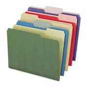 Pendaflex® Earthwise® Recycled Colored File Folders, Letter, Assorted, 50/Box (04350)