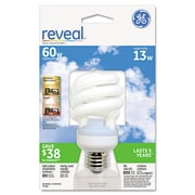 GE Energy Smart® Compact Fluorescent Spiral Light Bulb, 13 W, Reveal, Spiral, Each (75406)