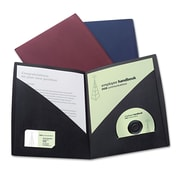 GBC® IMPACT™ Designer Two-Pocket Folder, Black/Black, 5/Pack (55518)