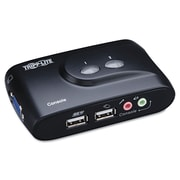 Tripp Lite 2-Port Compact USB KVM Switch with Cable Kit, Black (B004-VUA2-K-R)