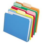 Pendaflex® Double Stuff® CutLess® WaterShed® File Folders, Letter, Assorted, 50/Box (ESS48437)