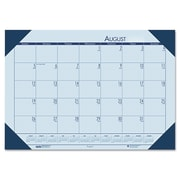 House of Doolittle™ EcoTones® Academic Desk Pad Calendar, 2015-2016, 18 1/2 x 13, Blue (HOD012540)