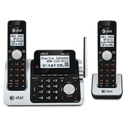 AT&T® CL83201 DECT 6.0 Cordless Phone/Answering System, 1 Handset, Silver/Black (CL83201)