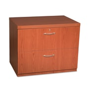 Mayline Aberdeen Series 2 Drawer Lateral File, Cherry,Letter/Legal, 36''W (AFLF36LCR)