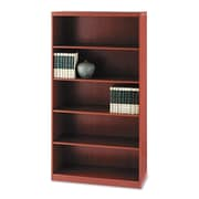 "Mayline® Aberdeen® Series Five-Shelf Bookcase, 5-Shelves, 68 3/4"", Standard, Cherry (AB5S36LCR)"