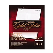 Ampad® Gold Fibre® Fastrip™ Release & Seal White Catalog Envelope, White, 9 x 12, 100/Box (73127)