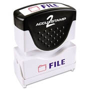 Accustamp2 Pre-Inked Shutter Stamp with Microban®, Blue/Red, Each (035534)