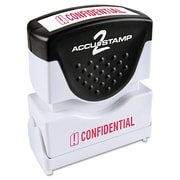 Accustamp2 Pre-Inked Shutter Stamp with Microban®, Red, Each (035574)