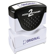 Accustamp2 Pre-Inked Shutter Stamp with Microban®, Blue, Each (035572)
