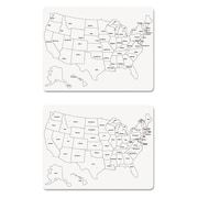 """Creativity Street® Two-Side U.S. Map Whiteboard, White, Craft Materials, 24"""" x , 10/Pack (9873)"""