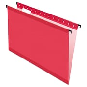Pendaflex® SureHook® Hanging Folders, Red, Legal, 20/Box (6153 1/5 RED)