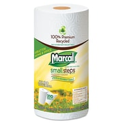 Marcal® 100% Premium Recycled Roll Towels, 2-Ply, Roll, White, 140/Roll, 3360/Carton (6181)