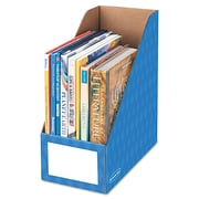"Bankers Box® Extra-Wide Magazine File, 6 1/4"" x 12 1/4"" x 13"", Blue, 3/Pack (FEL3380801)"