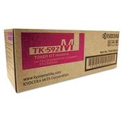 Kyocera TK592M Toner, 5,000 Page-Yield, Magenta