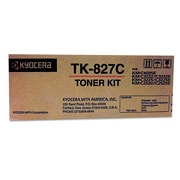 Kyocera TK827C Toner, 7,000 Page-Yield, Cyan