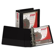 Samsill® Speedy Spine Heavy-Duty Time Saving D-Ring View Binder, 8 1/2 x 11, View, Each (19180C)
