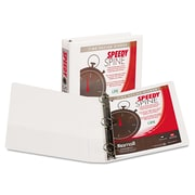 Samsill® Speedy Spine Heavy-Duty Time Saving D-Ring View Binder, 8 1/2 x 11, View, Each (19157C)