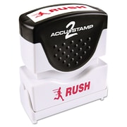 ACCUSTAMP2® Pre-Inked Shutter Stamp with Microban®, Red, Each (035590)