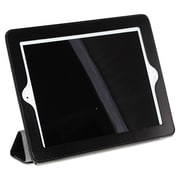 Buxton® Magnetic Rollback iPad2 Cover, Pebbled Faux Leather, iPad® 2, 3rd Gen, Black/Gray (OC269I22.BK)