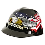 MSA Freedom Series™ Helmet 10079479, High-Density Polyethylene, American Eagle, Each (454-10079479)